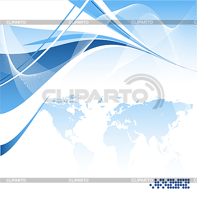 Blue abstract background with world map | Stock Vector Graphics |ID 3093151