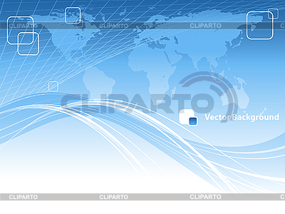 Blue abstract background with world map | Stock Vector Graphics |ID 3097572