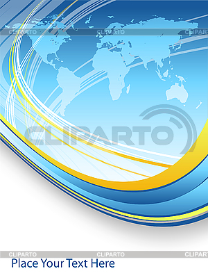 Blue abstract background with world map | Stock Vector Graphics |ID 3097578