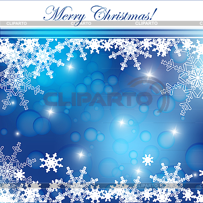 Blue christmas card with snowflakes   Stock Vector Graphics  ID 3097636