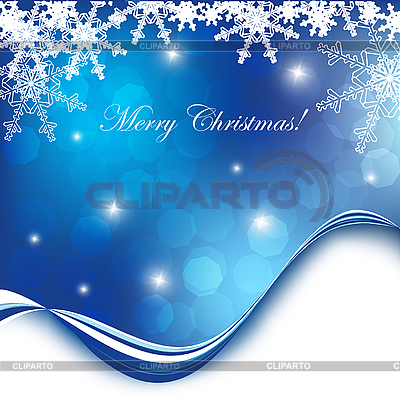 Blue christmas card with snowflakes | Stock Vector Graphics |ID 3097638