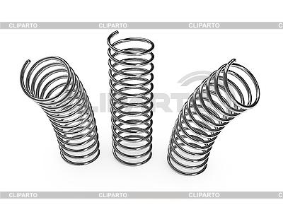 Chrome metal springs   High resolution stock illustration  ID 3091553