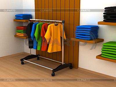 Kleiderständer mit Kleidern | Illustration mit hoher Auflösung |ID 3091691