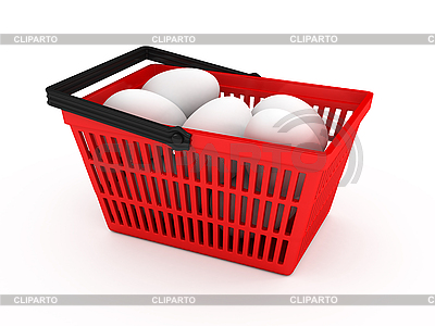 Shopping basket with eggs   High resolution stock illustration  ID 3091945