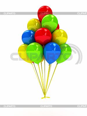 Яркие воздушные шарики | Иллюстрация большого размера |ID 3092005