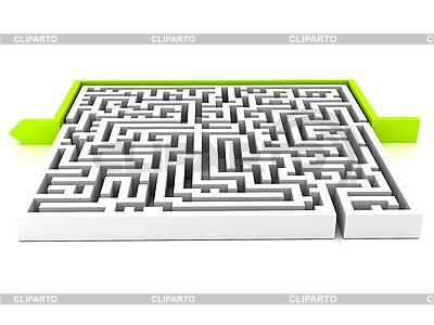 Labirinth with arrow   High resolution stock illustration  ID 3092072