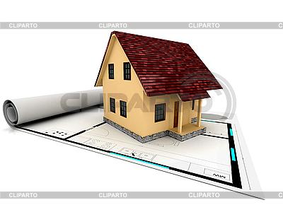 House on plan   High resolution stock illustration  ID 3092078