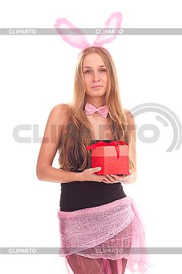 여자 선물 토끼로 옷을 입고 | 높은 해상도 사진 |ID 3092603