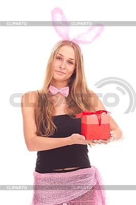 여자 선물 토끼로 옷을 입고 | 높은 해상도 사진 |ID 3092608