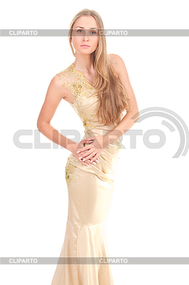 Attractive woman in yellow dress | High resolution stock photo |ID 3258222