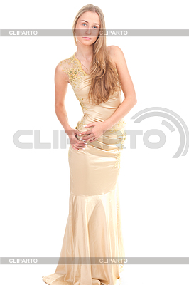 Attractive woman in yellow dress | High resolution stock photo |ID 3258223