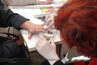 The express blood analysis.   High resolution stock photo  ID 3116829
