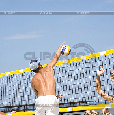 Beach volleyball | High resolution stock photo |ID 3122913