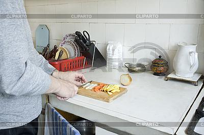 Zubereitung von Gemüse auf Küche | Foto mit hoher Auflösung |ID 3124322