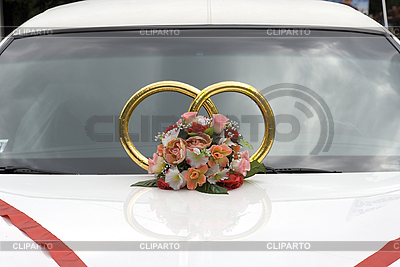 Wedding decorations on car | High resolution stock photo |ID 3124469