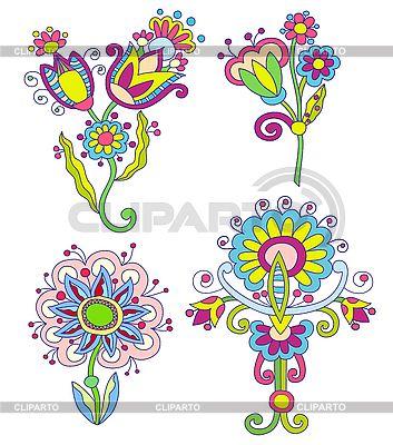 장식 꽃 | 벡터 클립 아트 |ID 3093028