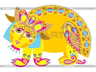 Ornamental mythical beast | High resolution stock illustration |ID 3093038