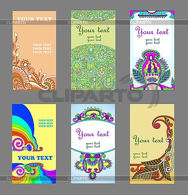 Floral cards set   Stock Vector Graphics  ID 3093114