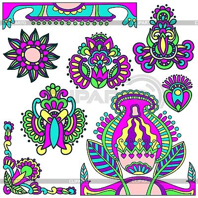 Kwiatów elementów | Klipart wektorowy |ID 3093116
