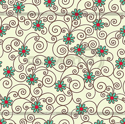 Seamless ornamental pattern | Stock Vector Graphics |ID 3094425
