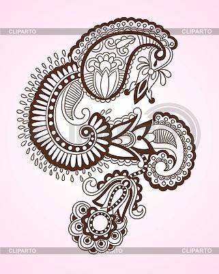 Henna Flower Design | Stock Vector Graphics |ID 3094721