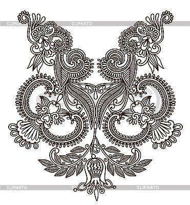 Neckline embroidery design | Stock Vector Graphics |ID 3094747