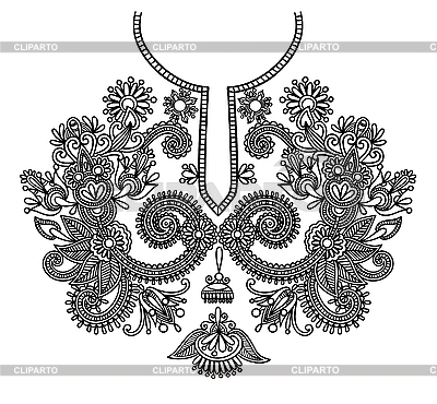Neckline embroidery design | Stock Vector Graphics |ID 3094750