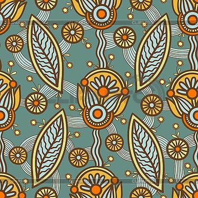 Seamless ornamental pattern   Stock Vector Graphics  ID 3094820