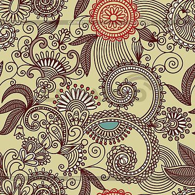 Seamless ornamental pattern   Stock Vector Graphics  ID 3094828