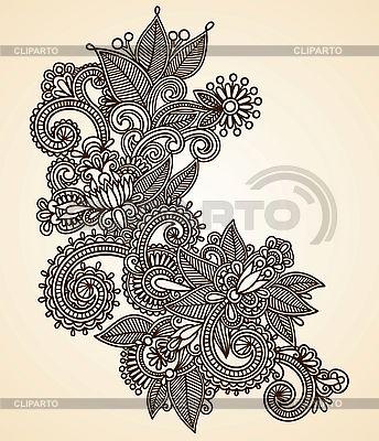 헤나 꽃 디자인 | 벡터 클립 아트 |ID 3094946