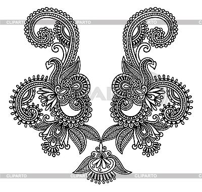 네클라인 자수 디자인 | 벡터 클립 아트 |ID 3094950
