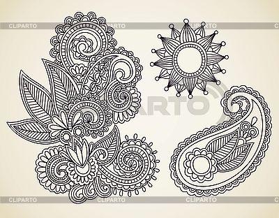 꽃 디자인 요소 | 벡터 클립 아트 |ID 3095616