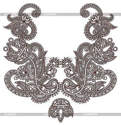 Neckline embroidery design | Stock Vector Graphics |ID 3095622