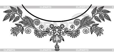 Neckline embroidery design | Stock Vector Graphics |ID 3095626