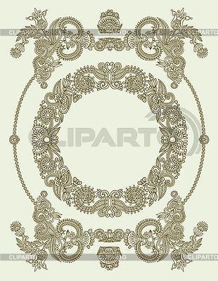 Ornate vintage frame | Stock Vector Graphics |ID 3095786