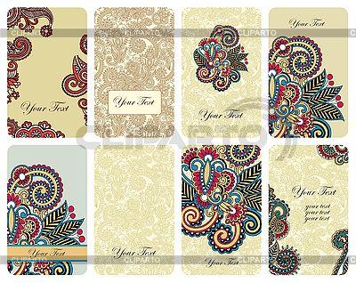 Ornamental floral card set  | Stock Vector Graphics |ID 3096823