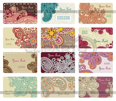 Floral business card set | Stock Vector Graphics |ID 3096825