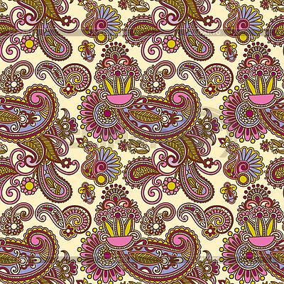 Seamless artistic flower pattern   Stock Vector Graphics  ID 3097399