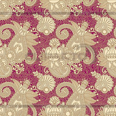 Seamless flower paisley pattern | Stock Vector Graphics |ID 3097405