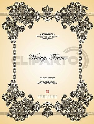Vintage ornamental frame | Stock Vector Graphics |ID 3097417