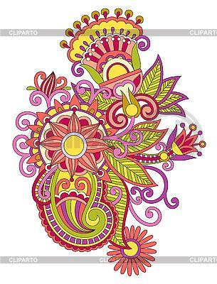 우크라이나어 전통적인 꽃 디자인 요소   벡터 클립 아트  ID 3097461