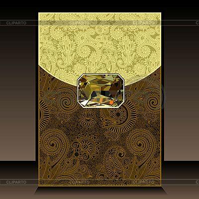 Luksusowe tła pionowych z klejnotem | Klipart wektorowy |ID 3099249