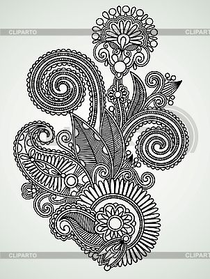 Ornate flower design | Stock Vector Graphics |ID 3099628