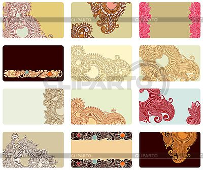 Floral business card set | Stock Vector Graphics |ID 3100083