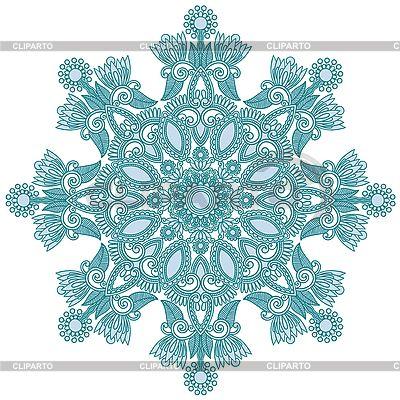 Ozdobny płatek śniegu | Klipart wektorowy |ID 3100145