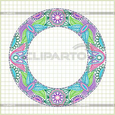 圆嘟嘟的花框 | 向量插图 |ID 3100177