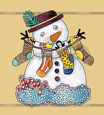 Christmas snowman   Stock Vector Graphics  ID 3101447