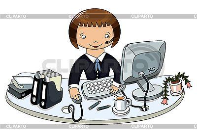 Kobieta biznesu w biurze | Klipart wektorowy |ID 3101546