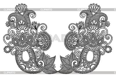 화려한 꽃 디자인   벡터 클립 아트  ID 3101770