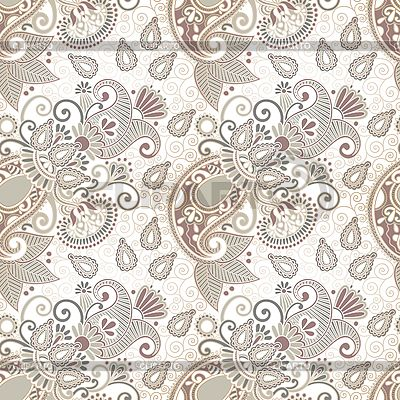 Seamless flower paisley design background | Stock Vector Graphics |ID 3101772